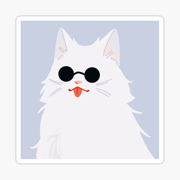 Gojo cat sticker on etsy